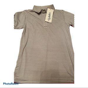 Garb boys size 5-6 striped polo brand new w/ tags